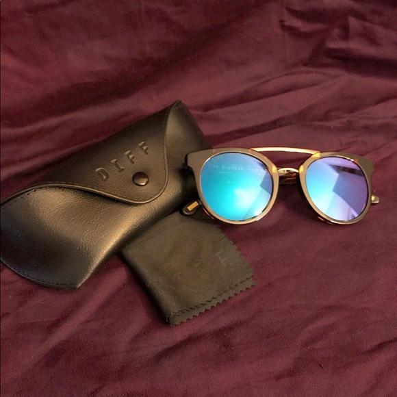 52b754fb63 Diff Eyewear Accessories - DIFF Eyewear Astro Tortoise Blue Mirror Polarized